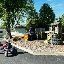 Childrens playground and fun bikes