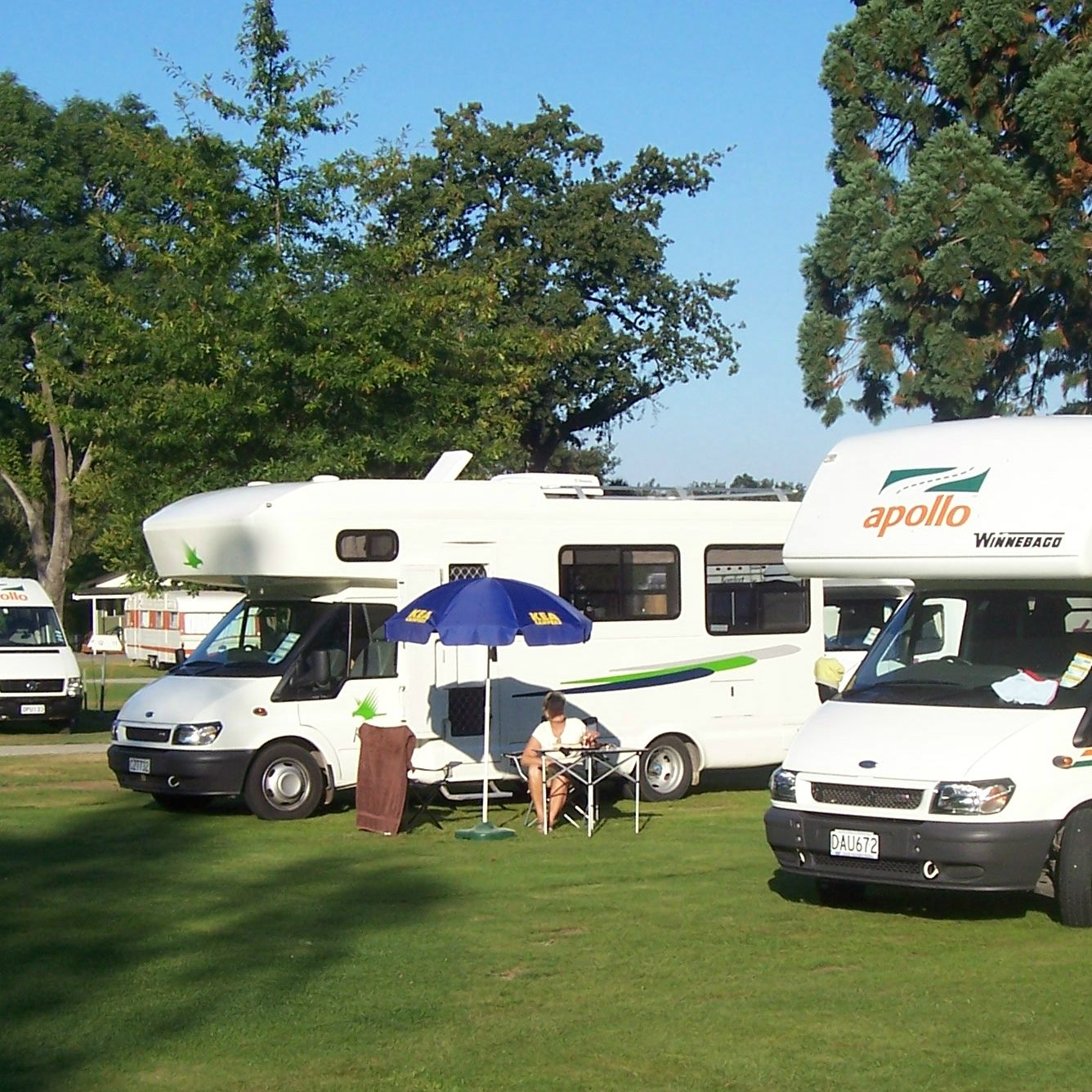 Campervans in our campground